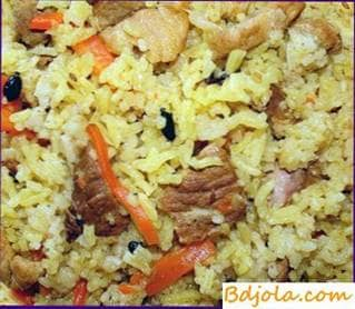 Gurian pilaf with honey sauce