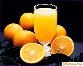 Orange juice with honey