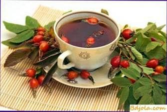 Broth of dogrose with honey