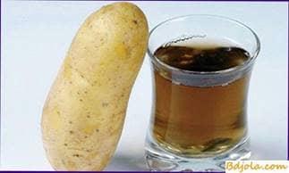 Potato juice with honey