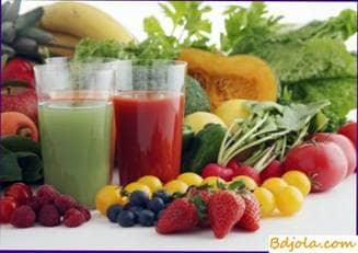 Vegetable juices with honey