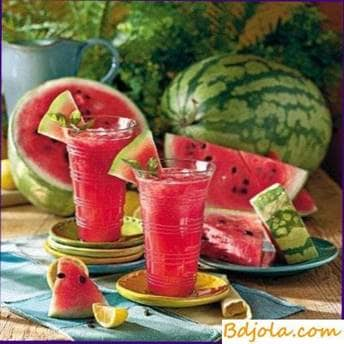 Watermelon juice with honey