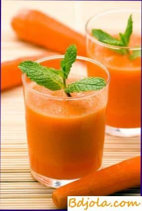 Drink of honey, carrot and lemon