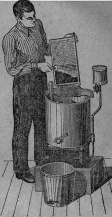 Extracción de miel en un extractor de miel