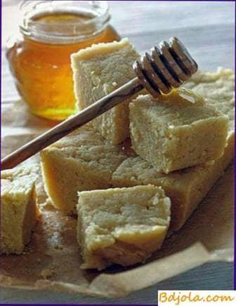 Halva con miel