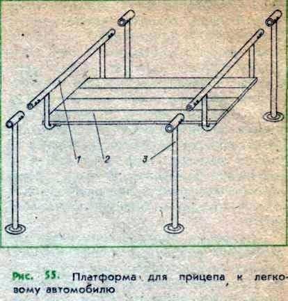 Plataforma para un remolque a un automóvil