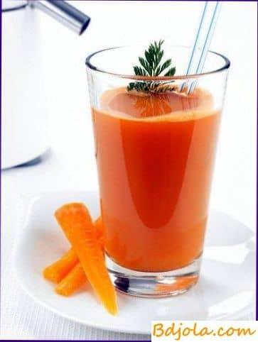 Jugo de zanahoria con miel anti frío manera de derrotar a la gripe