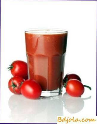 Jugo de tomate con miel