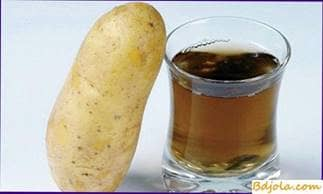 Jugo de patata con miel