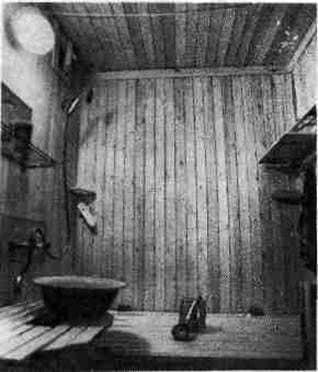 Baño en la casa del panel