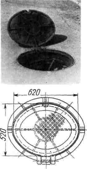 Alcantarilla oval de alcantarillado