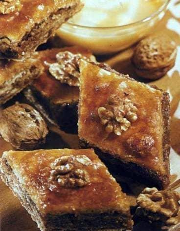 Cómo cocinar baklava con miel